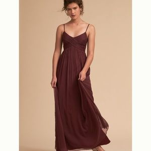 BHLDN Burgundy Bridesmaid / Prom Dress